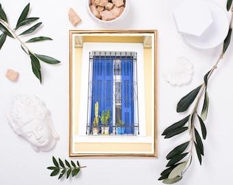 Window Box  // Digital Download image of a very Greek window display in Athens Greece