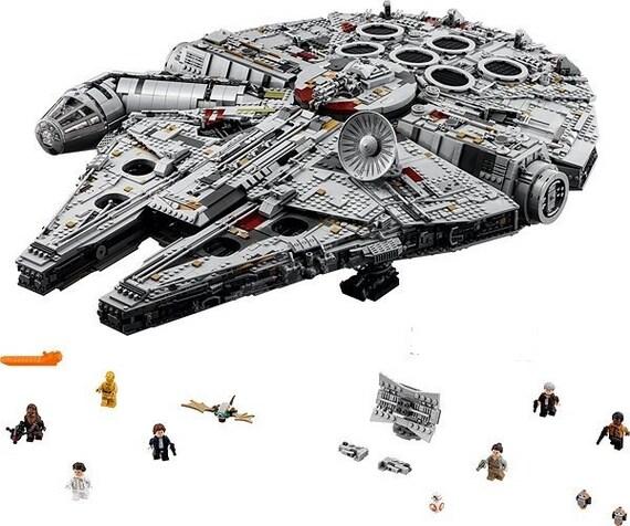 Star Wars Millennium Falcon Lego Compatible Blocks BRAND NEW 1381 Piece Bargain