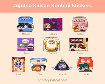 Jujutsu Kaisen Stickers   Kawaii Snack Sticker   Anime Sticker   Funny Sticker   Bujo   Planner   Laptop