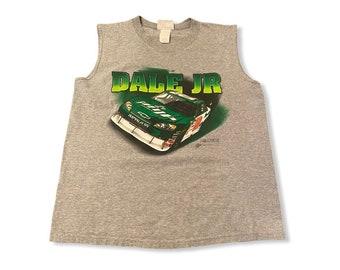 Vintage nascar Dale Jr 88 signature grey sleeveless T-shirt