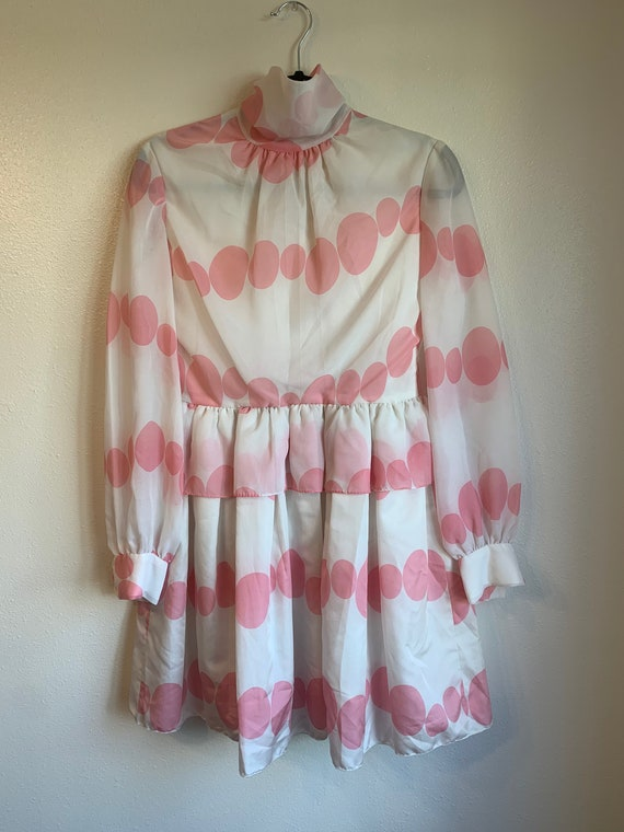 Vintage Polka Dot Ruffle Dress