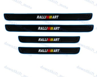 Rubber Car Door Scuff Sill Cover Panel Step Protector For Mitsubishi RALLIART X4