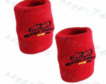X2 HKS Red Brake//Clutch Reservoir Tank Fireproof Sock Cover For Universal