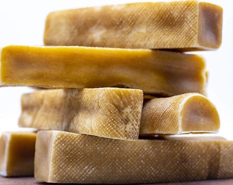 5 Large Tibetan Himalayan Yak Cheese Dog Chew- All Natural Healthy Long Lasting Dental Treat for most dogs under 55 lbs (5 sticks 1 Pound)