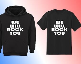 Kids T Shirt, We Will Rock You, Unisex Youth Short Sleeve Shirt, Rock Anthem Childrens Tee, Queen Shirt Kids, Rocker boys T shirt, Kids Top