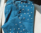 Skinny Women 39 s Jeans Pearl Designed Jeans Pearl Designed Denim Upcycled Designs Upcycled Denim