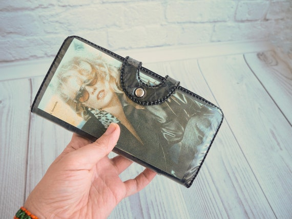 Vintage USSR Women's wallet with prints of girls