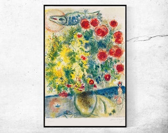 Acrobatic Equestrienne 1927 Marc Chagall Upside Down 1st ED 1960s Tipped in Book Art Plate Full Color Vaulting Gymnastic Dance on Horseback