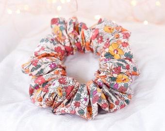 Retro Floral Scrunchie   Wide Elastic