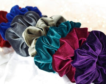 The Velvet Collection   Wide Elastic Scrunchies