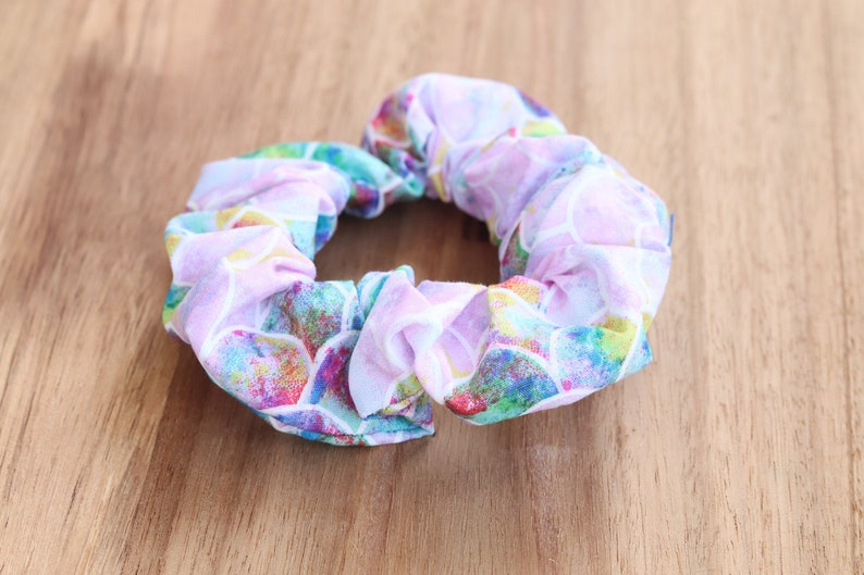 Mermaid Multi-Coloured Scrunchie Hair Tie Hair Scrunchie image 1