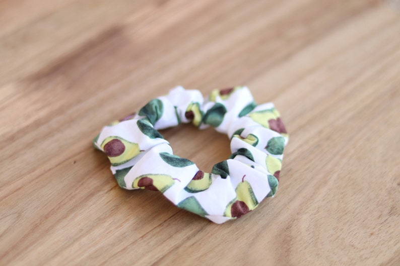 Avocado Scrunchie Hair Tie Hair Scrunchie Hair Accessory image 1