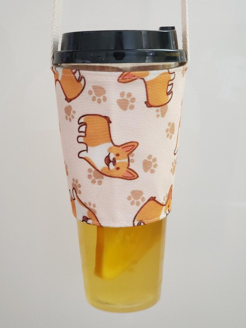 BobaFairy Bubble Tea Carrier  Boba Holder  Cold Drink Carrier Corgi