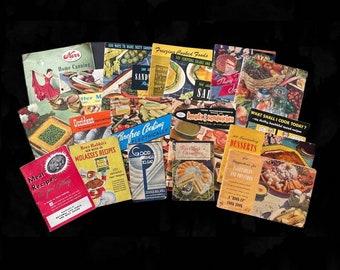 Lot of 18 Vintage Cookbooks