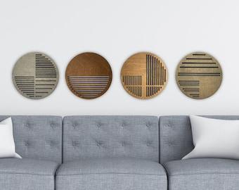Geometric wall decor   modern wall hangings   wood circles   Art Deco decor   decorative plaques   housewarming gift   scandi decor