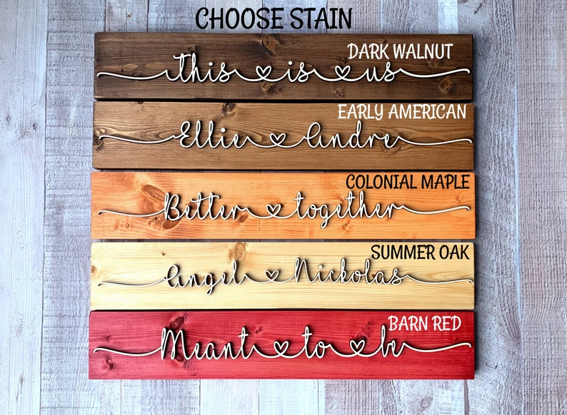 Couples name wood sign  personalized 3D wood sign  Pallet Sign  Custom Wood Sign   Wedding Sign  Family Name Sign establish date sign