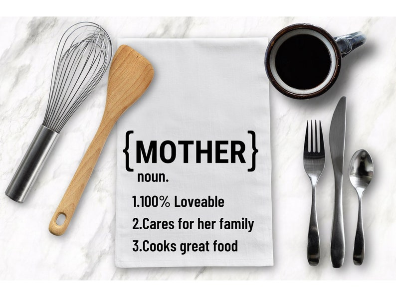 Mothers Day Gift From Daughter Cute Gift For Mom Tea Towel Mothers Day Gift From Son