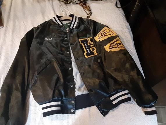 Letterman jacket, satin