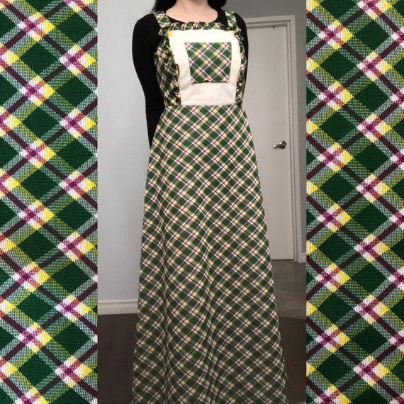 1970's Vintage Handmade Apron Style Dress