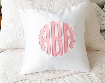 Monogram Pillow Etsy
