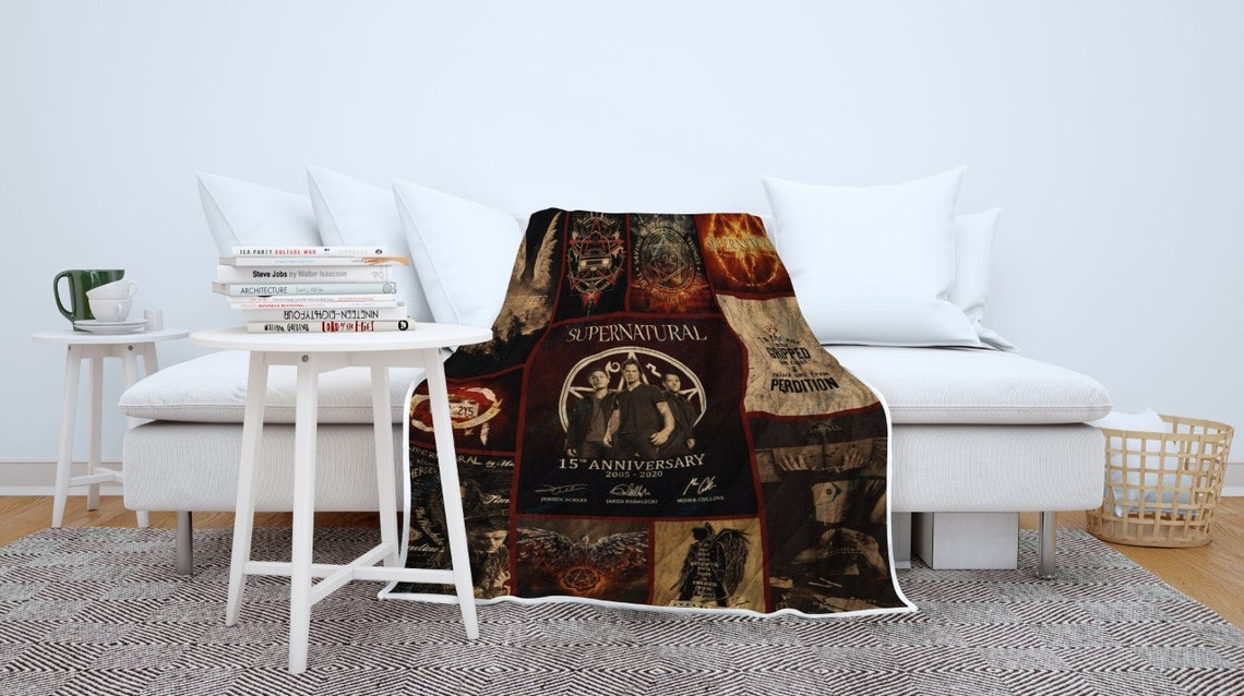 Supernatural 15 Seasons Vintage Blanket