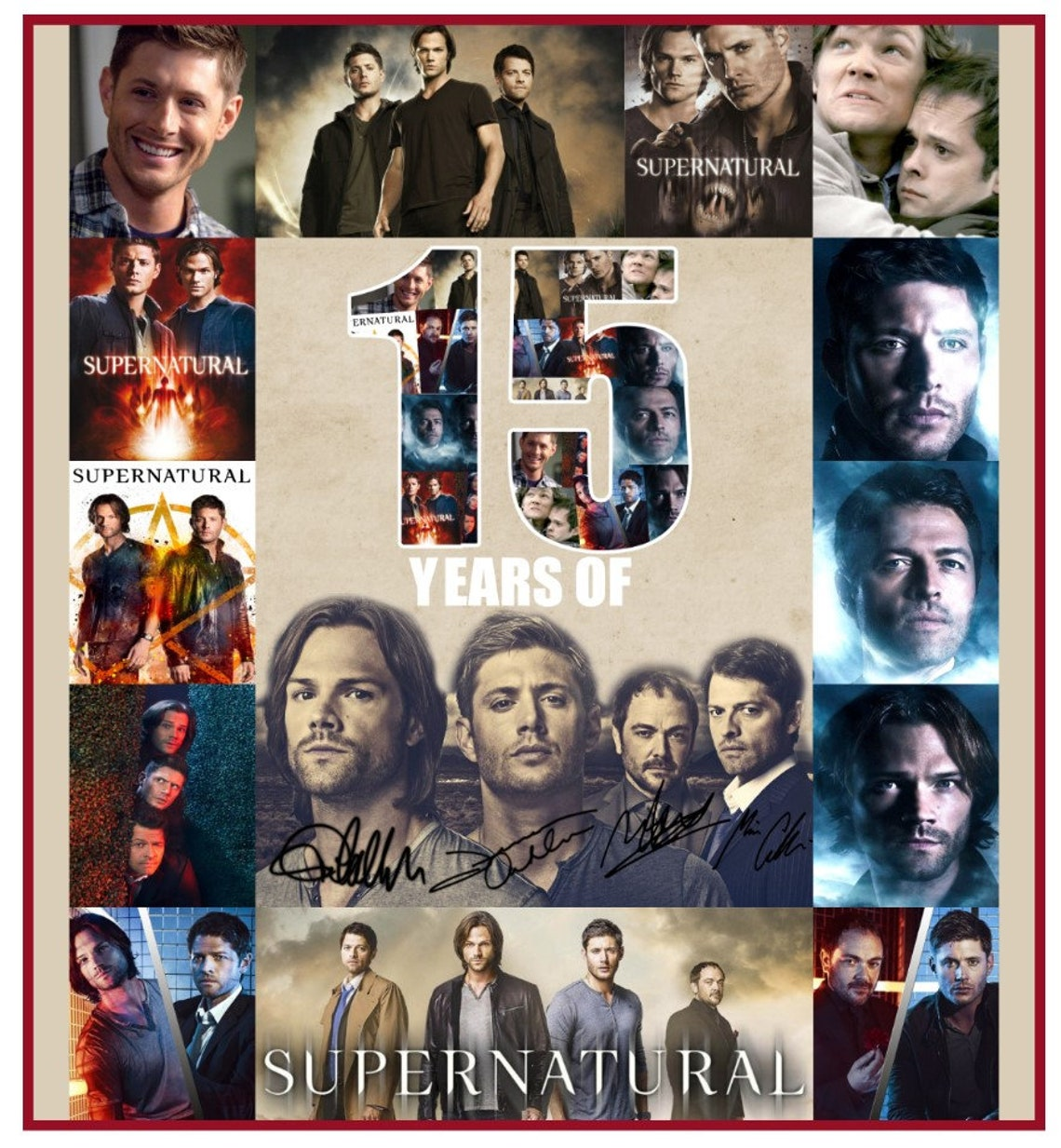 Supernatural 15 Seasons Blanket