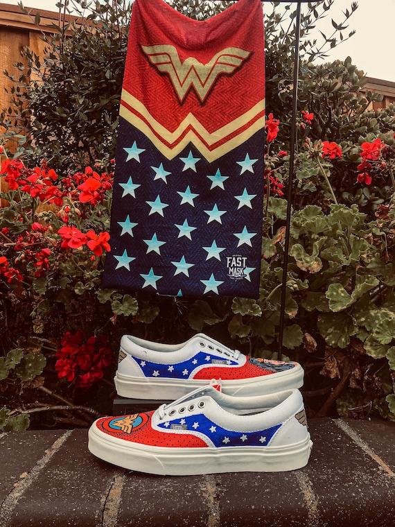 Wonder Women Vans | Etsy