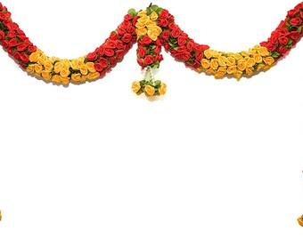 Fluffy Flower Artificial garlands Indian Cone Door Set Wall HangingDoor Hanging Marigold Christmas Special Wedding Decoration Home Decor