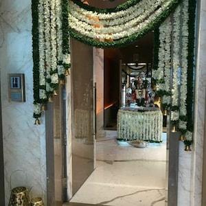 10 Feet Long 10 pieces White jasmine Garland Flower Garlands decoration Indian Wedding Party Christmas Decor Flowers