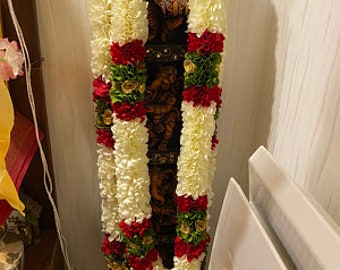 Ready To Ship Milni Mala ,puja mala, wedding garland, Indian honour garland, statue garland, sagan garland, wedding mala, photo mala