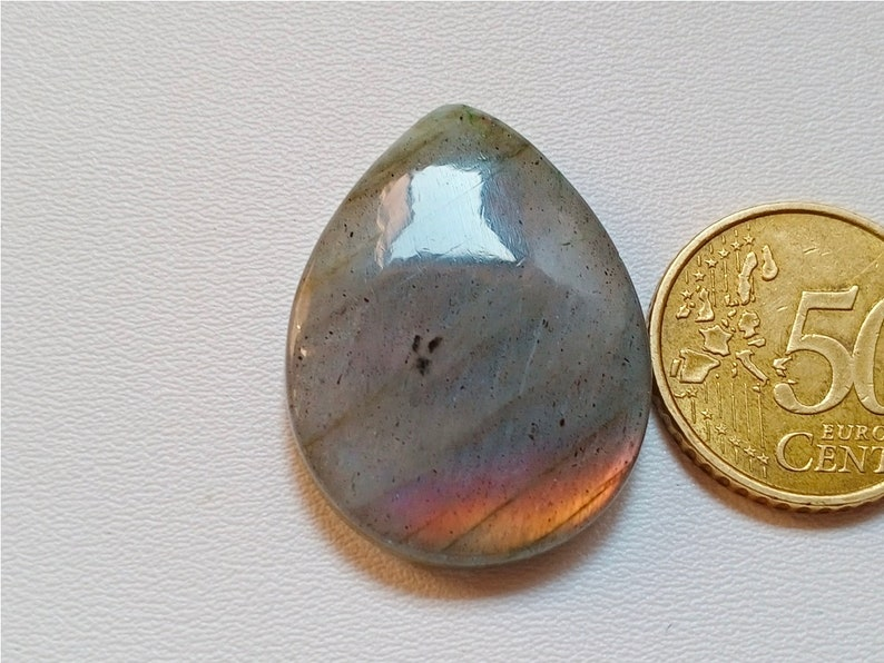 Top Quality Silver Pendant Jewelry Making Stone 36X27X6 mm 55 Crt Natural Cabs AAA+++Rare Unique Fire Labradorite Cabochon