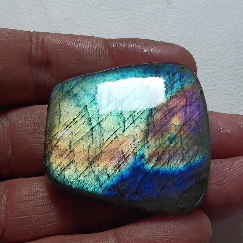 Beautiful Malty Labradorite Cabochon Gemstone AAA Quality Stone Loose Cabochon Jewelry Labradorite 44X43X8 mm 152 Crt