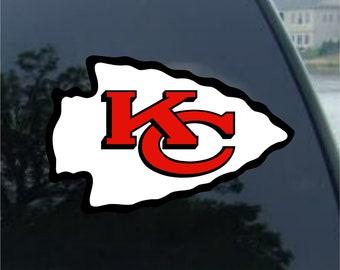 6 x 3.8, Black Kansas City Chiefs Vinyl Sticker Decals for Car Bumper Window MacBook pro Laptop iPad iPhone
