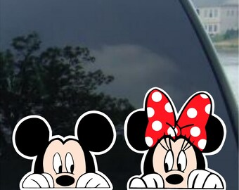 Minnie Mouse Disney Car Decal Party Sheets. Disney Decal Mickey Mouse Decal Disney Balloon Decal Mickey Mouse Party Disney Party Cup