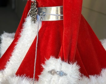 Womens Martha May Style Red Christmas Costume