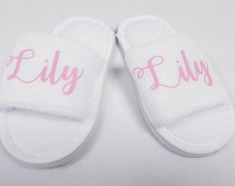 Personalised children's spa slippers