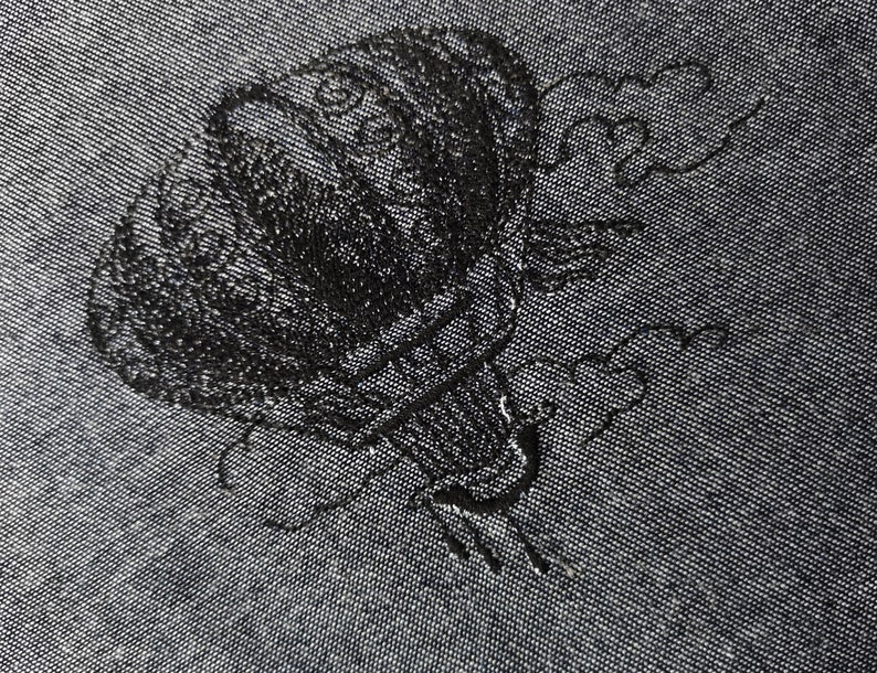 Embroidered picture balloon embroidery