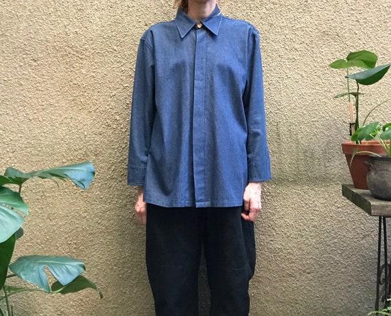 Vintage Top – Lightweight Denim Jacket / Shirt-Ja… - image 8
