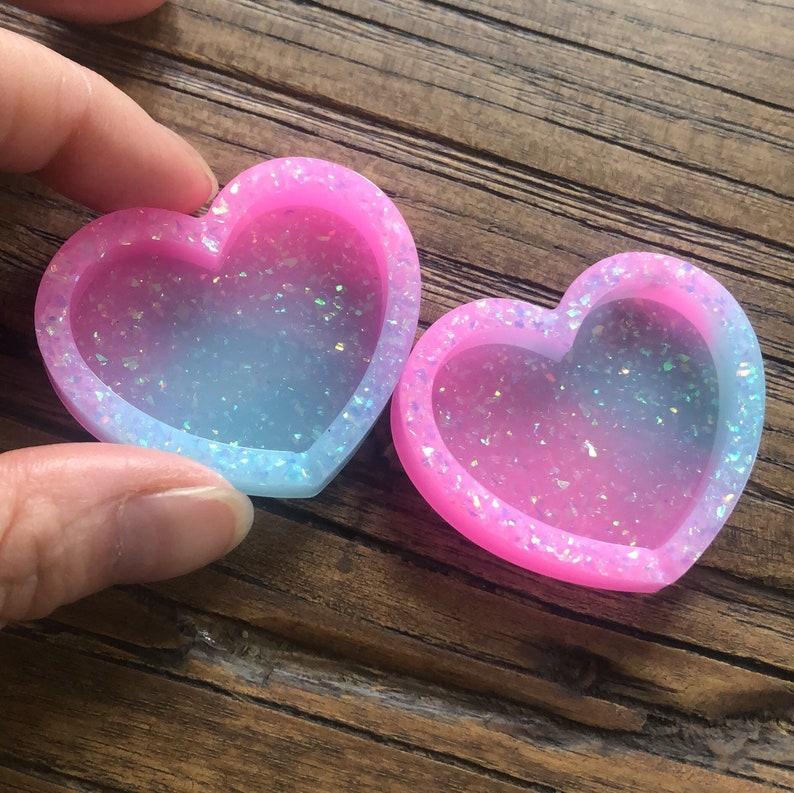 Filled with love ashes resin dry shaker keepsake pet memorial heart