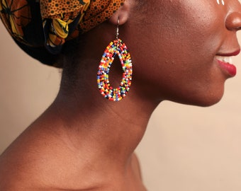 gift ideas for wife Zulu earrings gifts for wife beaded earrings African gifts statement Jewellery African beaded earrings