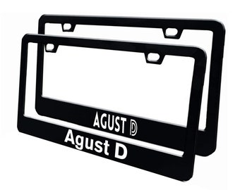 Agust D-Stickers Only-2 Set-Decal Stickers for License Frame, Car Windows-PC-IPad Case -BTS-Yoongi-Suga-comes with 2 styles