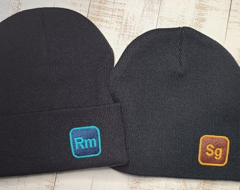 Name Initial -Personalized Beanie-Logo Style