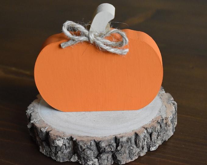 Pumpkin decor, Autumn tiered tray decor, Rustic wooden pumpkin, Fall decor, Farmhouse autumn decor, Painted pumpkins, Shelf decor, Fall gift