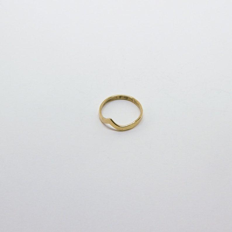 Knucklering Chevron Ring Handmade B2