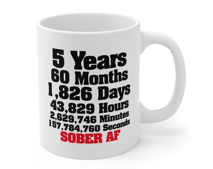 Customizeable Sober Date Gift Anniversary 11oz Mug