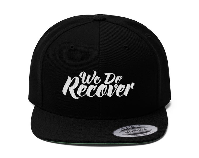 We Do Recover Flat Bill Hat