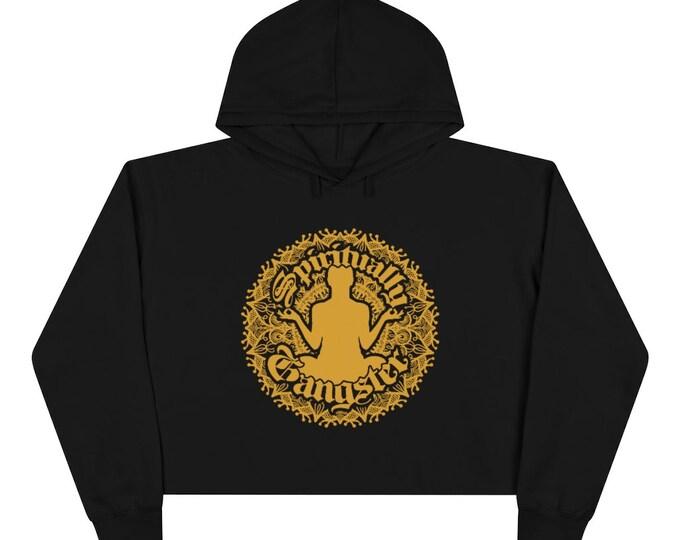 Spiritually Gangster Mandala Crop Hoodie