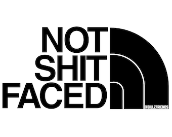 """NOT SH1T FACED 4.25"""" x 2.75"""" Vinyl Sticker AA, Recovery, Anonymous"""