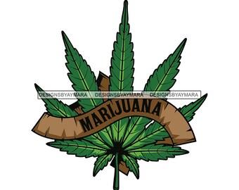 Marijuana Flower Emblem Symbol Blunt Joint Weed Leaf Stoned Etsy