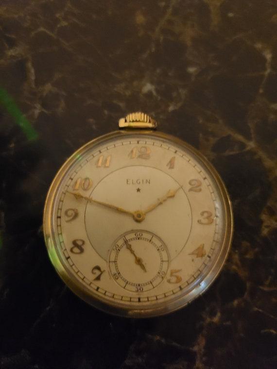 Antique 1920s Elgin 10k Gold Filled Ornate Engrave